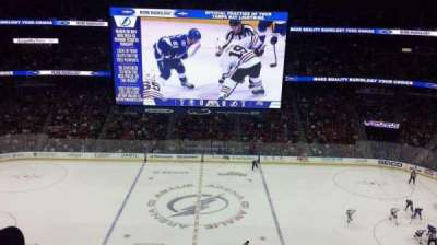 Amalie Arena, section: 301, row: B, seat: 7