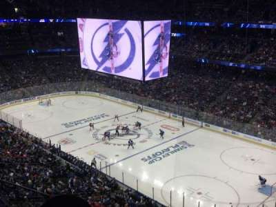 Amalie Arena, section: 327, row: F, seat: 13