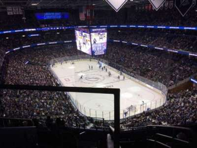 Amalie Arena, section: 310, row: H, seat: 22
