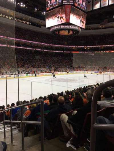 Wells Fargo Center, section: 110, row: 12, seat: 14
