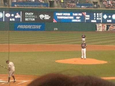 Progressive Field, section: 151, row: Z, seat: 9
