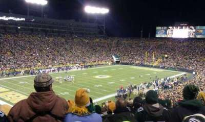 Lambeau Field, section 108, home of Green Bay Packers