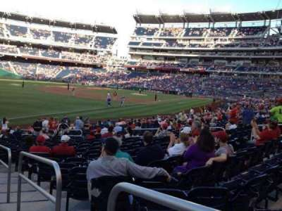 NATIONALS Park, section: 109, row: aa, seat: 1