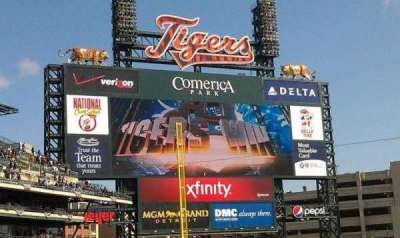 Comerica Park, section: 132, row: 32, seat: 8