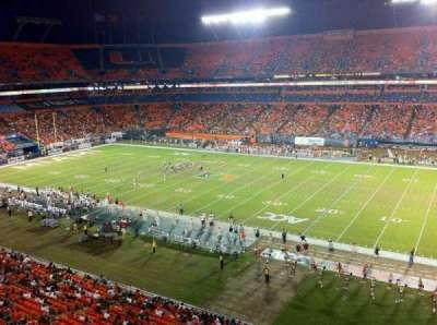 Hard Rock Stadium, section: 411, row: 1, seat: 1