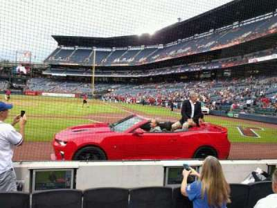 Turner Field, section: 108R, row: 2, seat: 5