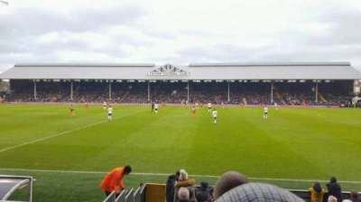 Craven Cottage, section: W, row: E, seat: 16