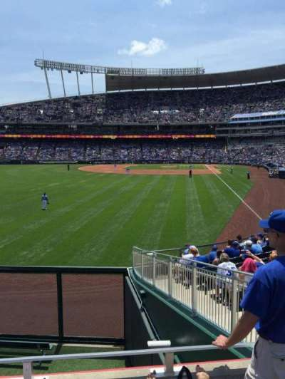Kauffman Stadium, section: 106, row: C, seat: 10