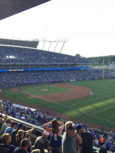 Kauffman Stadium, section: 323, row: E, seat: 13
