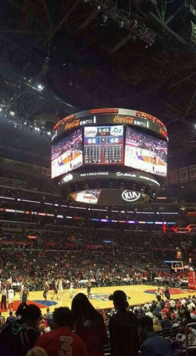 Staples Center, section: 103, row: 15, seat: 7