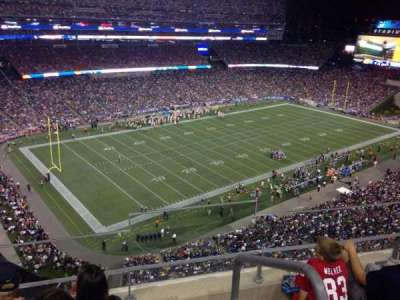 Gillette Stadium, section: 315, row: 14, seat: 2