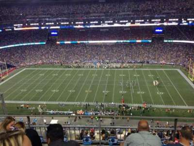 Gillette Stadium section 307