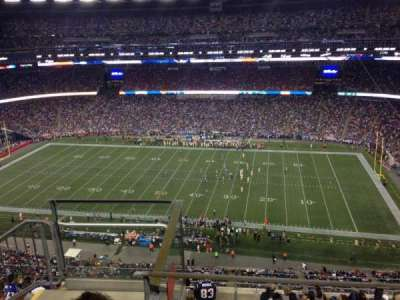 Gillette Stadium, section: 306, row: 7, seat: 25