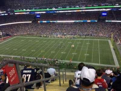 Gillette Stadium, section: 305, row: 8, seat: 22