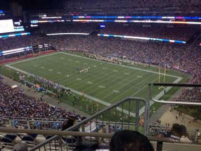 Gillette Stadium, section: 302, row: 9, seat: 19
