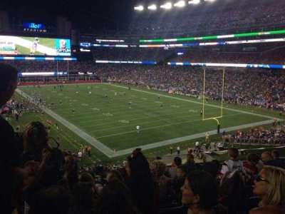 Gillette Stadium, section: 201, row: 9, seat: 17