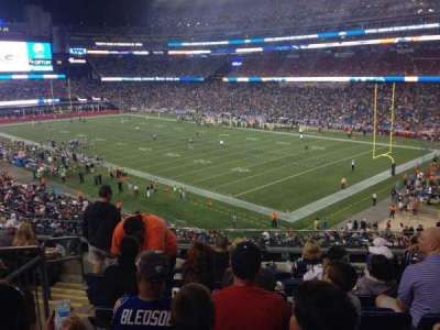 Gillette Stadium, section: 203, row: 8, seat: 16