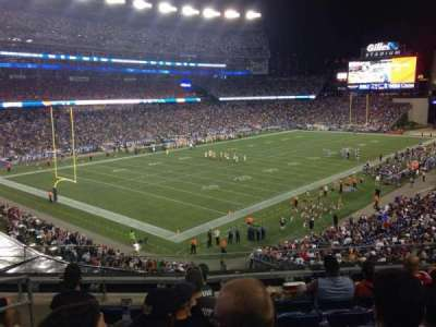 Gillette Stadium, section: 216, row: 7, seat: 17