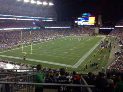 Gillette Stadium section 218