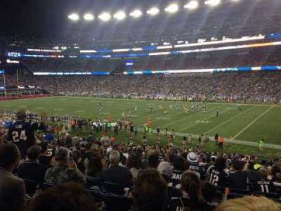 Gillette Stadium section 104