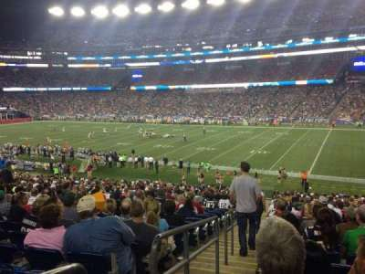 Gillette Stadium, section: 105, row: 34, seat: 16