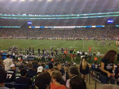 Gillette Stadium, section: 108, row: 20, seat: 1