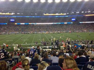 Gillette Stadium, section: 110, row: 27, seat: 20