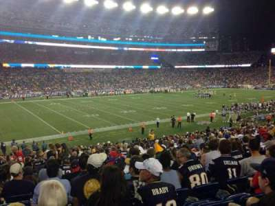 Gillette Stadium, section: 114, row: 28, seat: 15