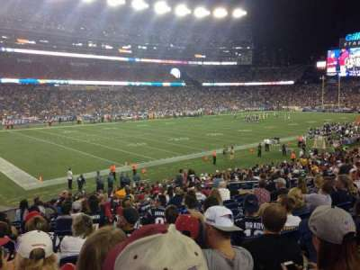 Gillette Stadium section 115