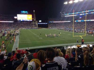 Gillette Stadium, section: 122, row: 26, seat: 20