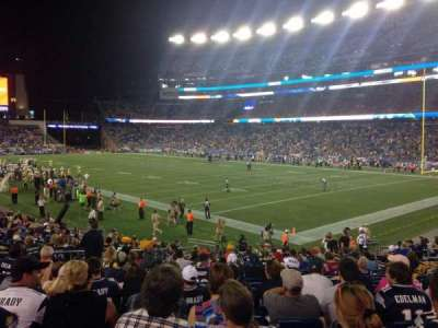 Gillette Stadium section 125