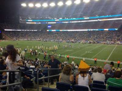 Gillette Stadium, section: 127, row: 27, seat: 5