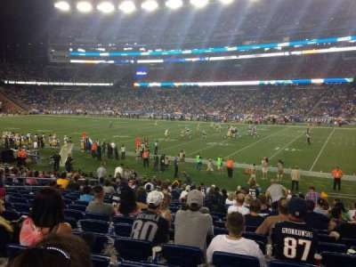 Gillette Stadium, section: 128, row: 21, seat: 5