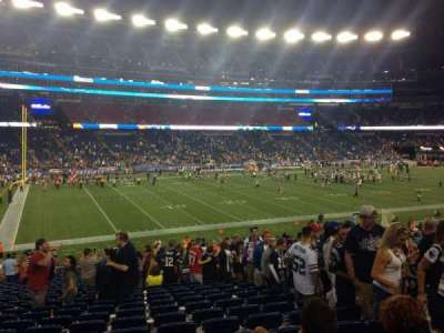 Gillette Stadium, section: 136, row: 32, seat: 6