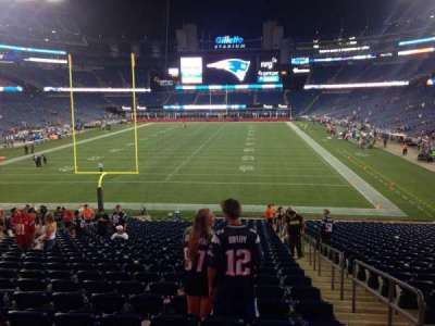Gillette Stadium, section: 142, row: 32, seat: 2