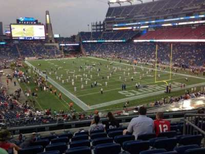 Gillette Stadium, section: 223, row: 8, seat: 10