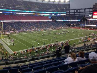 Gillette Stadium, section: 236, row: 8, seat: 22