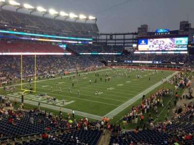Gillette Stadium section 240