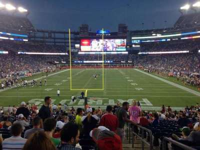 Gillette Stadium, section: 143, row: 28, seat: 1