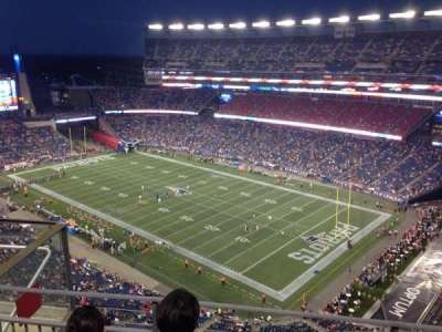 Gillette Stadium, section: 324, row: 10, seat: 15