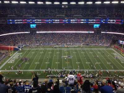 Gillette Stadium, section: 332, row: 20, seat: 10