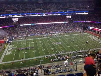 Gillette Stadium, section: 334, row: 13, seat: 5