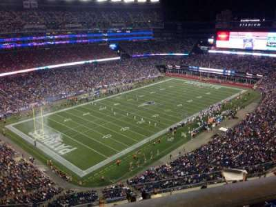 Gillette Stadium, section: 339, row: 8, seat: 5