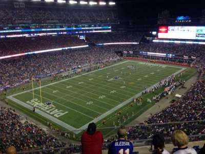 Gillette Stadium section 340