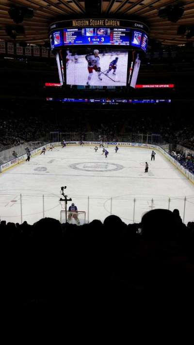 Madison Square Garden, section: 102, row: 19, seat: 19