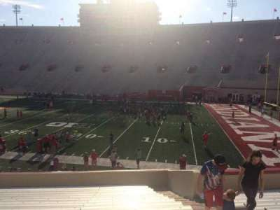 Memorial Stadium (Indiana), section: 23, row: 24, seat: 3