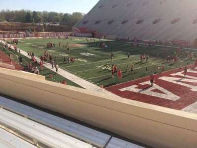 Memorial Stadium (Indiana), section: 21, row: 24, seat: 3