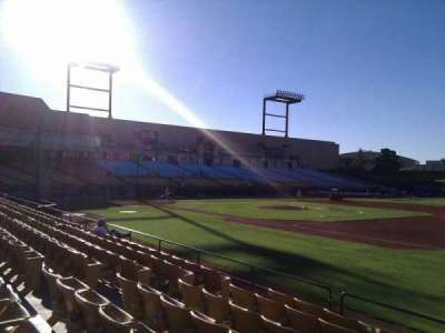 Cashman Field, section: 20, row: h, seat: 12
