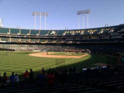Oakland Alameda Coliseum, section: 130, row: 22, seat: 11