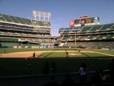 Oakland Alameda Coliseum, section: 121, row: 12, seat: 9